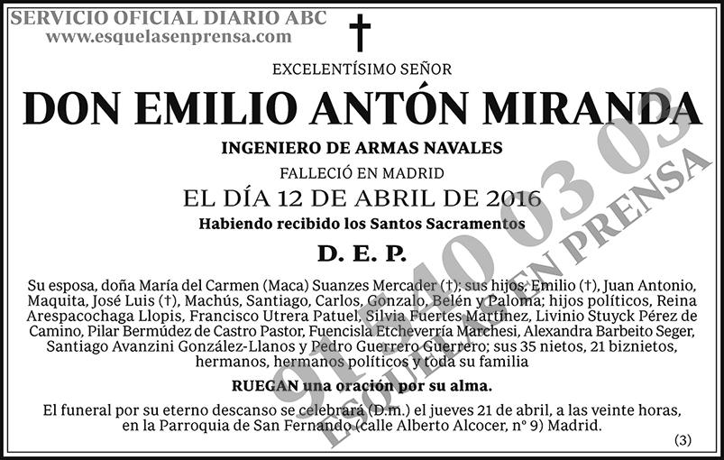 Emilio Antón Miranda